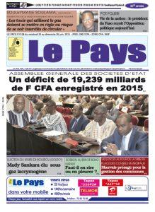 LE JOURNAL  24/06/2016 au 26/06/2016