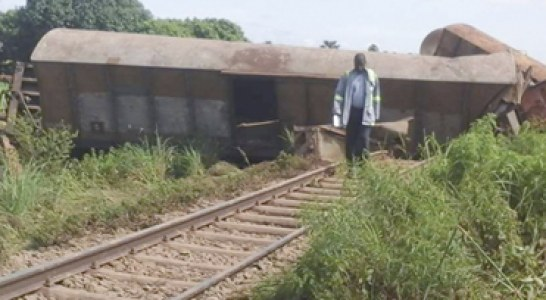 VILLAGE DE SINIENA : Un train-marchandises termine sa course dans un pont