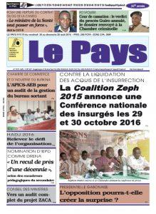 LE JOURNAL  26/08/2016 au 28/08/2016