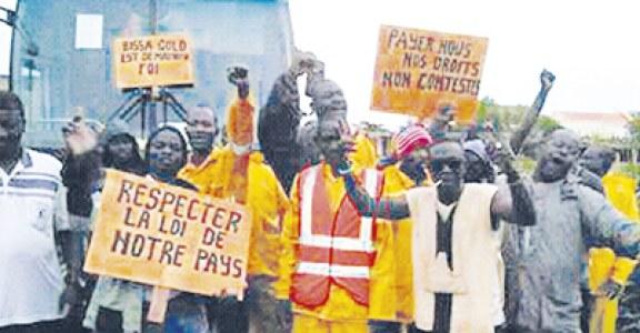 BISSA GOLD :  Les travailleurs réclament le paiement de leurs droits