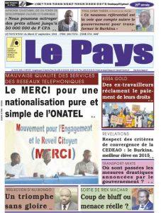 LE JOURNAL  27/09/2016
