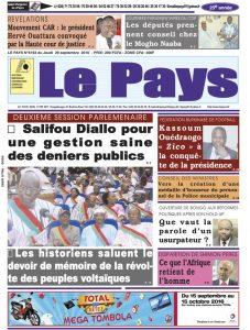 LE JOURNAL  29/09/2016