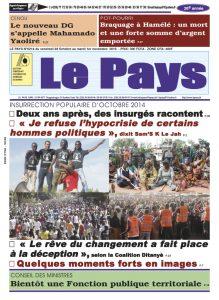 LE JOURNAL  28/10/2016 au 01/11/2016
