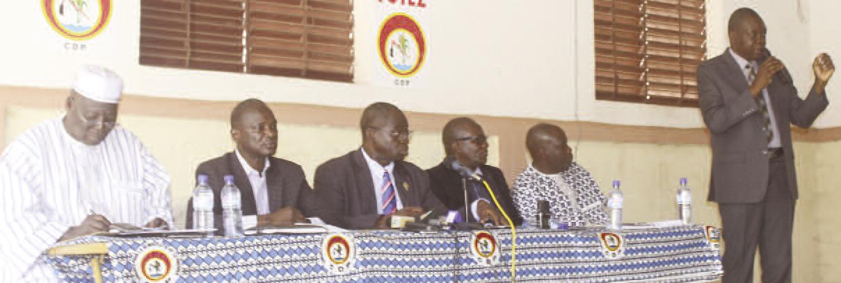 LEVEE DE L'IMMUNITE PARLEMENTAIRE DE SALIFOU SAWADOGO : Le groupe parlementaire CDP en colère