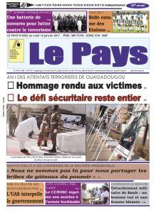 LE JOURNAL DU 16/01/2017