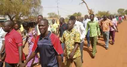 SIT-IN DES ENSEIGNANTS DE LA GNAGNA :  Une journée de deuil  pour Salifou Badini