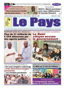 Le Journal du  30/05/2017