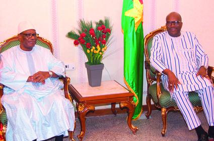COOPERATION BURKINA-MALI : Le président IBK en visite au Burkina