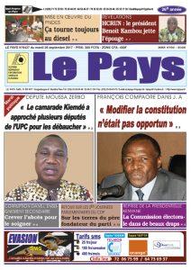 Le Journal du 26/09/2017