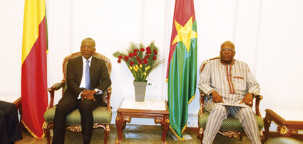 VISITE DE PATRICE TALON AU BURKINA : Officiellement, la toute première