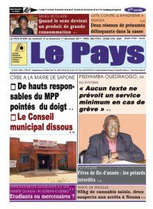 Le Journal du 15/12/2017 AU 17/12/2017