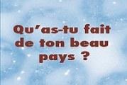 ''QU'AS-TU FAIT DE TON BEAU PAYS ?''     Un nouveau livre  de Boureima Jérémie SIGUE qui décortique les causes de l'incivisme