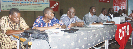 REVENDICATIONS SOCIALES :  Les syndicats persistent et signent