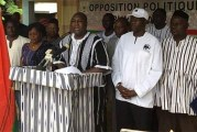 MARCHE-MEETING ANNONCEE DE L'OPPOSITION BURKINABE