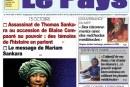 «Le Pays» N°6695 du 15/10/20018