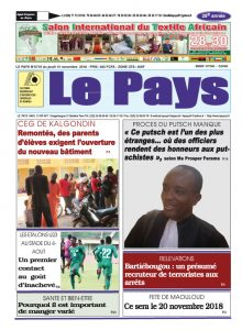 Le Journal du  15/11/2018
