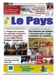 Le Journal du  14 AU 16/12/2018