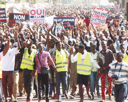 MARCHE DE SOUTIEN AUX VICTIMES DE YIRGOU   :  Les manifestants réclament justice
