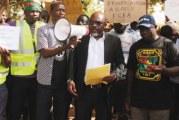 MARCHE DE PROTESTATION DES OSC CONTRE LE F CFA  « Nous voulons dès aujourd'hui notre indépendance monétaire »,: dit M. Guissou de Urgences panafricaines